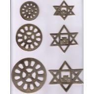 "The Mother's & Sri Aurobindo's symbol 4"" (set)"