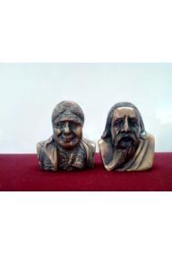 "The Mother & Sri Aurobindo Bust 2""(set)"