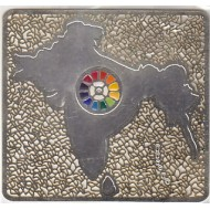 India map The Mother's Multi Colour Symbol