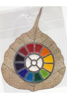 "The Mother's Multi Colour Symbol - leaf 4.5"""