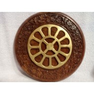 Round Carved Frame with Mother's Symbol - 6""