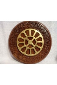 """Round Carved Frame with Mother's Symbol - 6"""""""