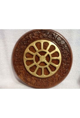 """Round Carved Frame with Mother's Symbol - 8"""""""