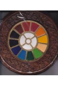 Round Carving Frame with Multi Colour Symbol - 8""