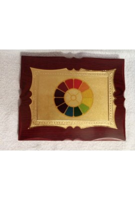 """Wooden Frame with photol 6"""" X 8"""" (in gold foil)"""