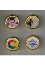 Brass Button Badge (set)