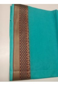 Coloured Saree with Border print
