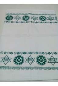 White  Pillow Cover with border prints - 17x27