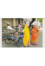 Post Card - 010 (taking a Rickshaw ride)