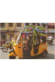 Post Card - 028 (Decorating the Autorickshaw)