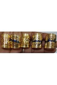 Brass Free Size Ring - Enamel