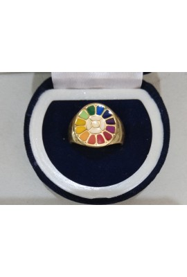 Thick Ring (brass) With The Mother's Symbol in Multicolour