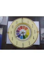 "Wall Clock with Multi Colour Symbol - 10"""