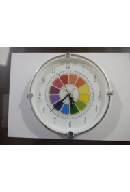 Wall Clock with Multi Colour Symbol 6""