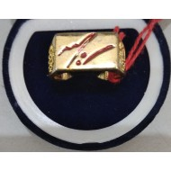 Brass Signature Ring - Enamel